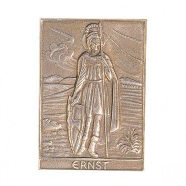Ernst Namenspatron-Bronzerelief (8 cm)