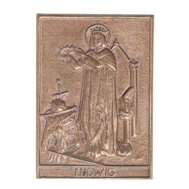 Ludwig Namenspatron-Bronzerelief (8 cm)