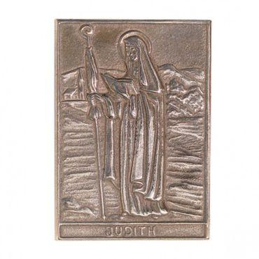 Judith Namenspatron-Bronzerelief (8 cm)