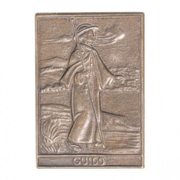 Guido Namenspatron-Bronzerelief (8 cm)