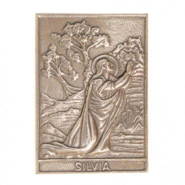 Silvia Namenspatron-Bronzerelief (8 cm)