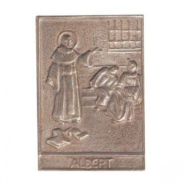 Albert Namenspatron-Bronzerelief (8 cm)
