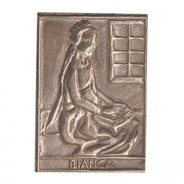 Bianca Namenspatron-Bronzerelief (8 cm)