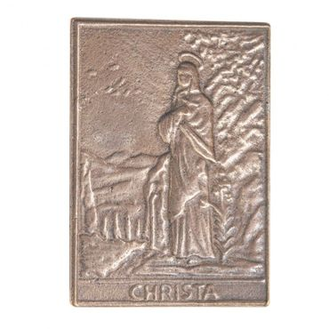 Christa Namenspatron-Bronzerelief (8 cm)