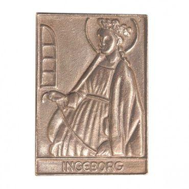 Ingeborg Namenspatron-Bronzerelief (8 cm)