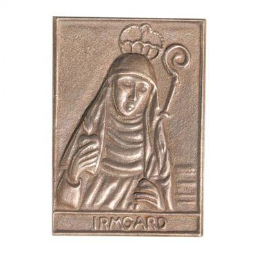 Irmgard Namenspatron-Bronzerelief (8 cm)