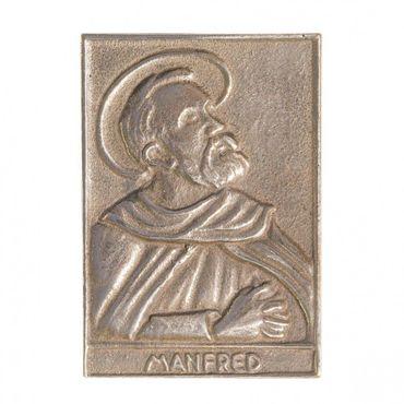 Manfred Namenspatron-Bronzerelief (8 cm)