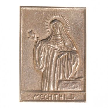 Mechthild Namenspatron-Bronzerelief (8 cm)
