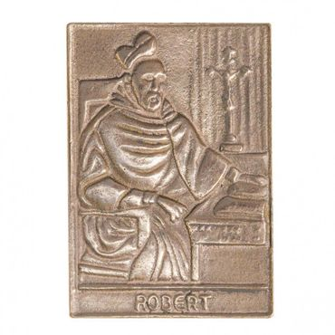 Robert Namenspatron-Bronzerelief (8 cm)