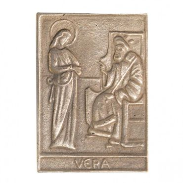 Vera Namenspatron-Bronzerelief (8 cm)
