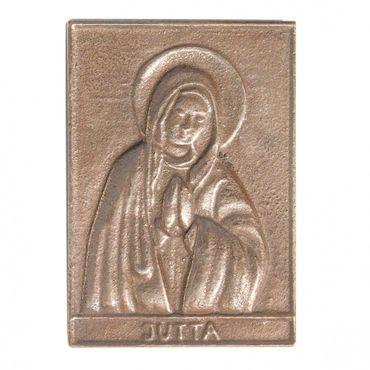 Jutta Namenspatron-Bronzerelief (8 cm)