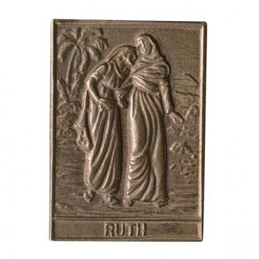 Ruth Namenspatron-Bronzerelief (8 cm)