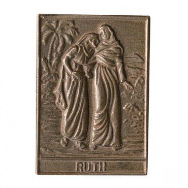 Ruth Namenspatron-Bronzerelief (8 cm)