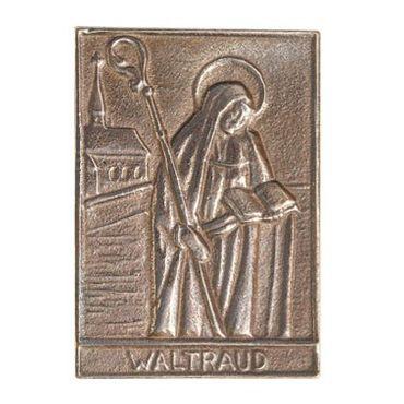 Waltraud Namenspatron-Bronzerelief (8 cm)