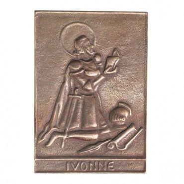 Ivonne Namenspatron-Bronzerelief (8 cm)