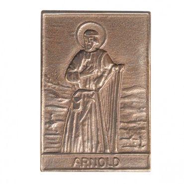 Arnold Namenspatron-Bronzerelief (8 cm)