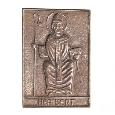 Heribert Namenspatron-Bronzerelief (8 cm)
