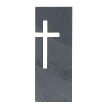 Wandrelief Schiefer Kreuz 23 x 9 cm Kruzifix
