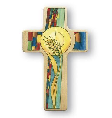 Kreuz für Kinder Weizenkorn 11cm Holz-Kreuz