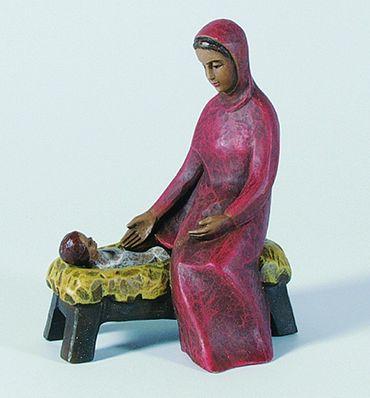 Gelenberg Krippe Maria mit Barren handbemalt 18 cm