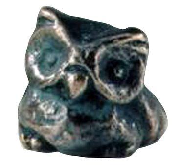 Eule Bronzeskulptur 5 cm patiniert