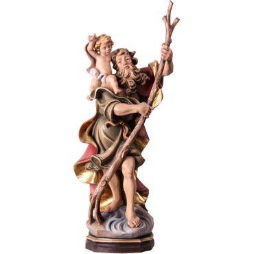 Heiliger Christopherus Heiligenfigur Holz geschnitzt