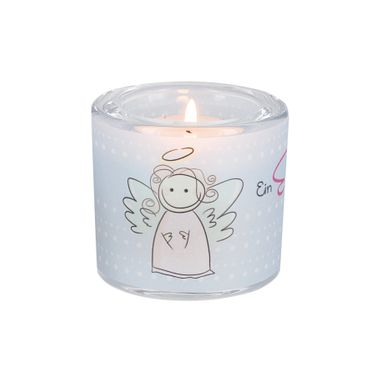 Glaswindlicht Ein Engel inkl Teelicht Kerzenhalter