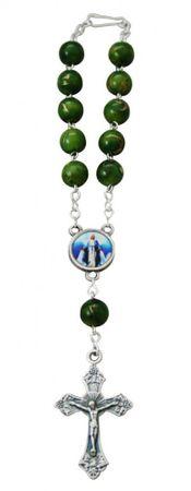 Rosenkranz 10er Armband Kunstguss-Perle Verschluss 15 cm