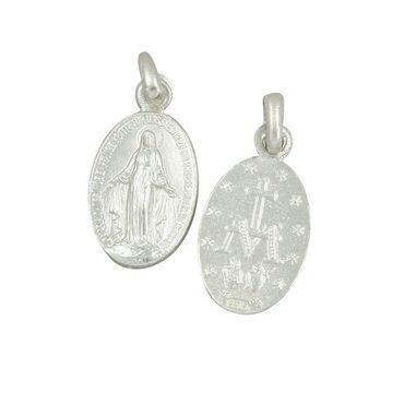 Wunderbare Wundertätige Medaille 12 mm 925 Sterlingsilber