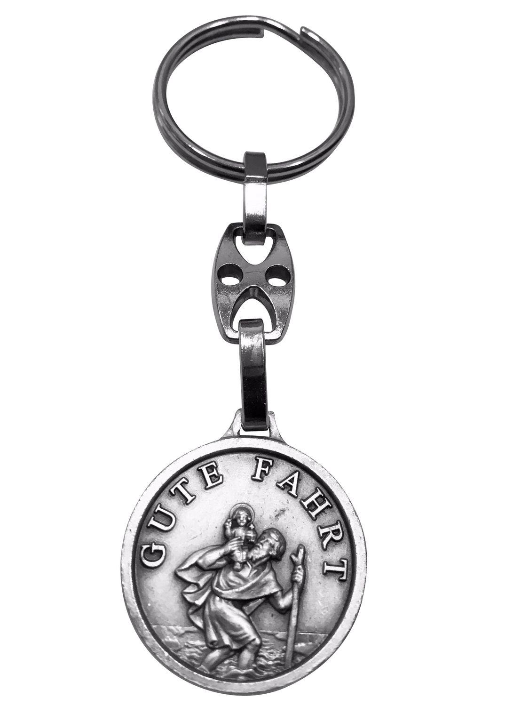 Schlüsselanhänger Gute Fahrt Gott schütze Dich 8 cm Christopherus Anhänger