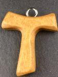 Tau Schmuckkreuz Franziskus Kreuz 3,5 cm Holzkreuz Antonius Kreuz Tanne  – Bild 2