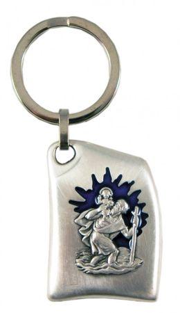 Schlüsselanhänger Christopherus elegant 8 cm