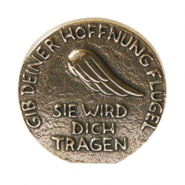 Hoffnung Bronzeplakette Stellen & Hängen 8 cm