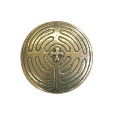 Jakobsweg Handschmeichler Labyrinth Bronze Ø 4 cm