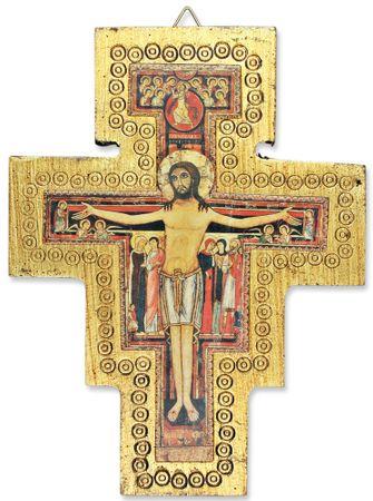Holzkreuz Franziskus 16 cm Kruzifix