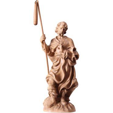 Heiliger Isidor Holzfigur, geschnitzt gebeizt