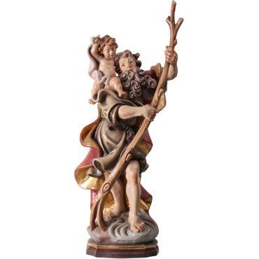 Heiliger Christophorus Holz geschnitzt antik handbemalt