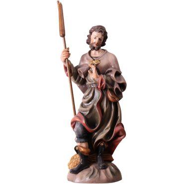 Heiliger Isidor Heiligenfigur, geschnitzt antik handbemalt