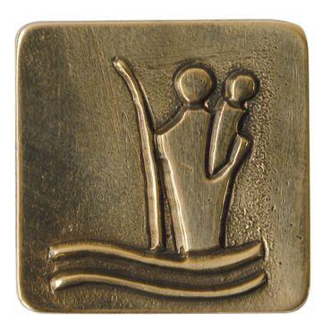 Christophorus Autoplakette 3 x 3 cm Bronze Magnet