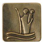 Christophorus Autoplakette 3 x 3 cm Bronze Magnet 001