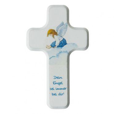 Kreuz für Kinder Dein Engel 11 cm Holz-Kreuz