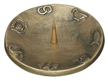 Kerzenleuchter mit 7 Symbolen Ø 12 cm Bronze