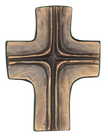 Wandkreuz Schmuckkreuz 11 cm Bronze
