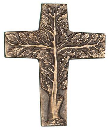 Wandkreuz Lebensbaum 9 x 7,5 cm Bronze