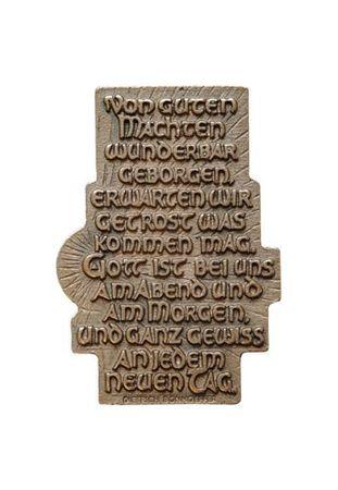 Spruchrelief Von guten Mächten Dietrich Bonhoeffer 7 cm