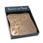 Wandrelief Bronze Spuren im Sand 7 cm Handarbeit Fischbach Text Fishback-Powers – Bild 2
