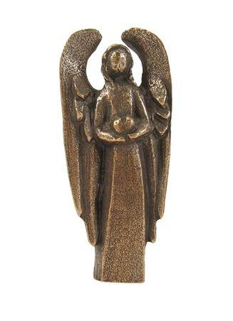 Schutzengel Engel des Herzens 7,5 cm, Bronze