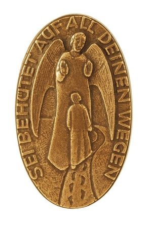 Handschmeichler Schutzengel Sei behütet Bronze