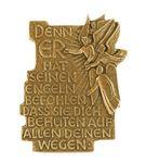 Plakette Denn er hat seinen Engeln 11 cm Bronze Schutzengel Geschenke – Bild 1
