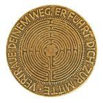 Relief Labyrinth Vertraue deinem Weg.. Ø 9 cm Bronze 001